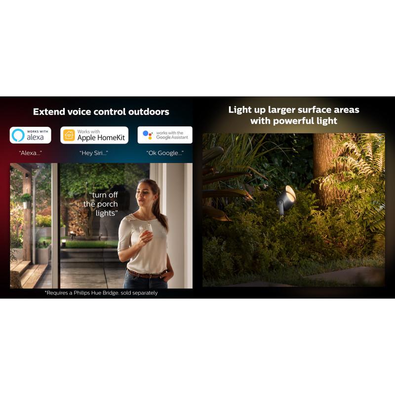Philips Hue Lily Smart Outdoor Spotlight RGB+W