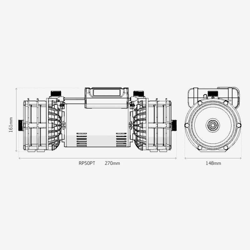Salamander RP50PT Centrifugal Twin Shower Pump