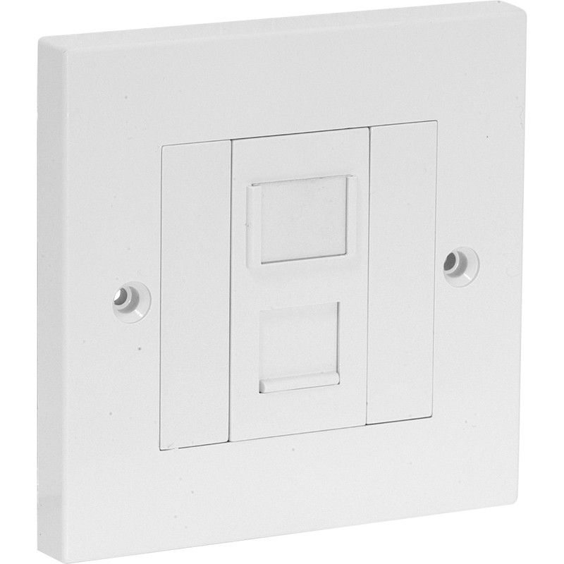 Axiom RJ45 CAT5E Wall Outlet Kit Single