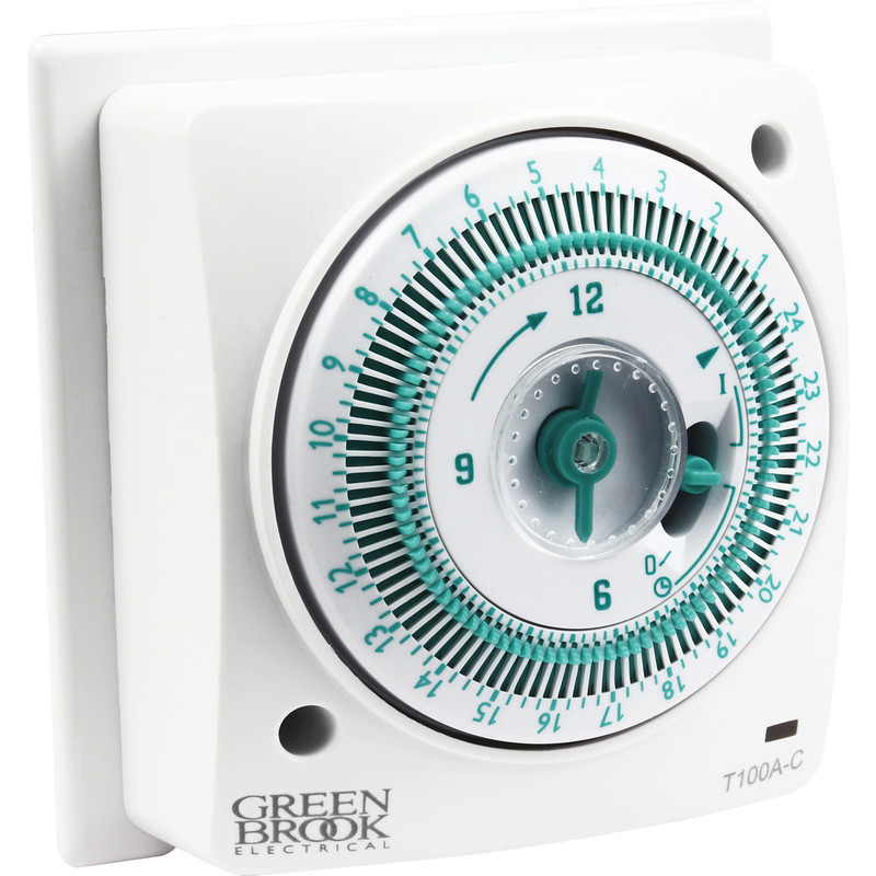 Greenbrook 24 Hour Mechanical Socket Box Timer