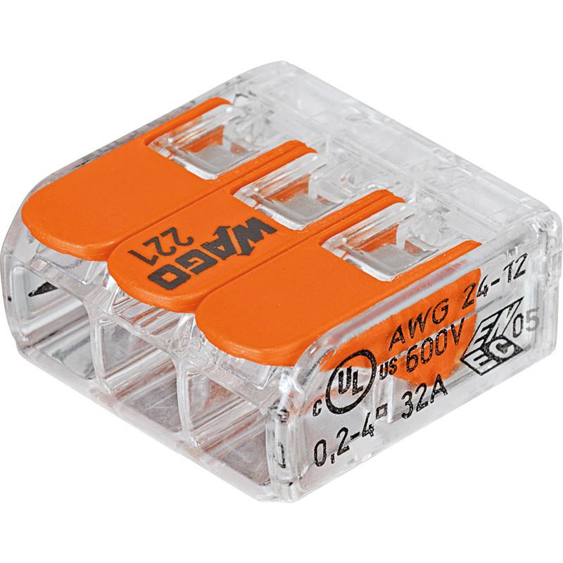 Wago 221 3 Way Compact Lever Connectors
