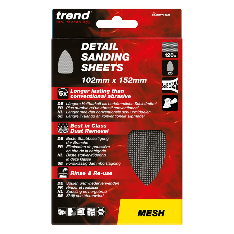 Trend Mesh Detail Sanding Sheet 102mm x 152mm