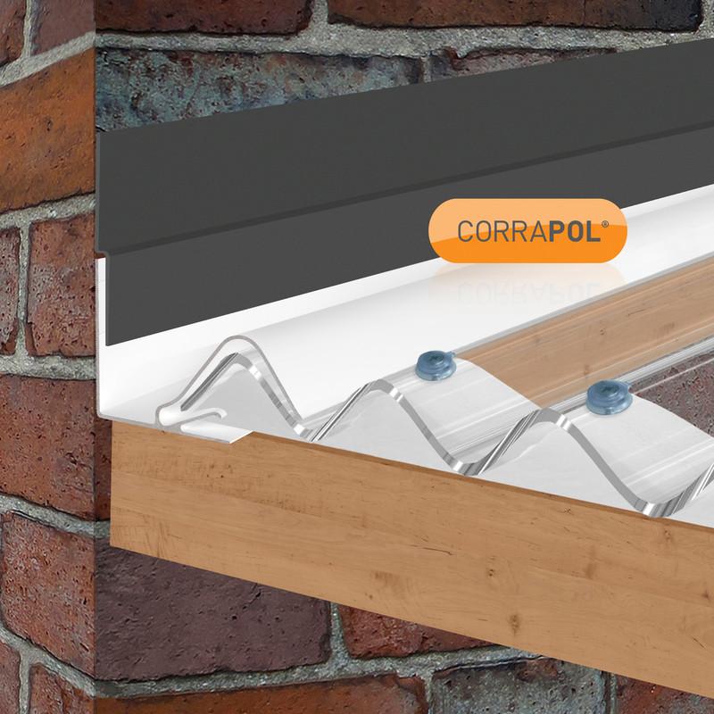 Corrapol Rigid Rock n Lock Wall Side Flashing