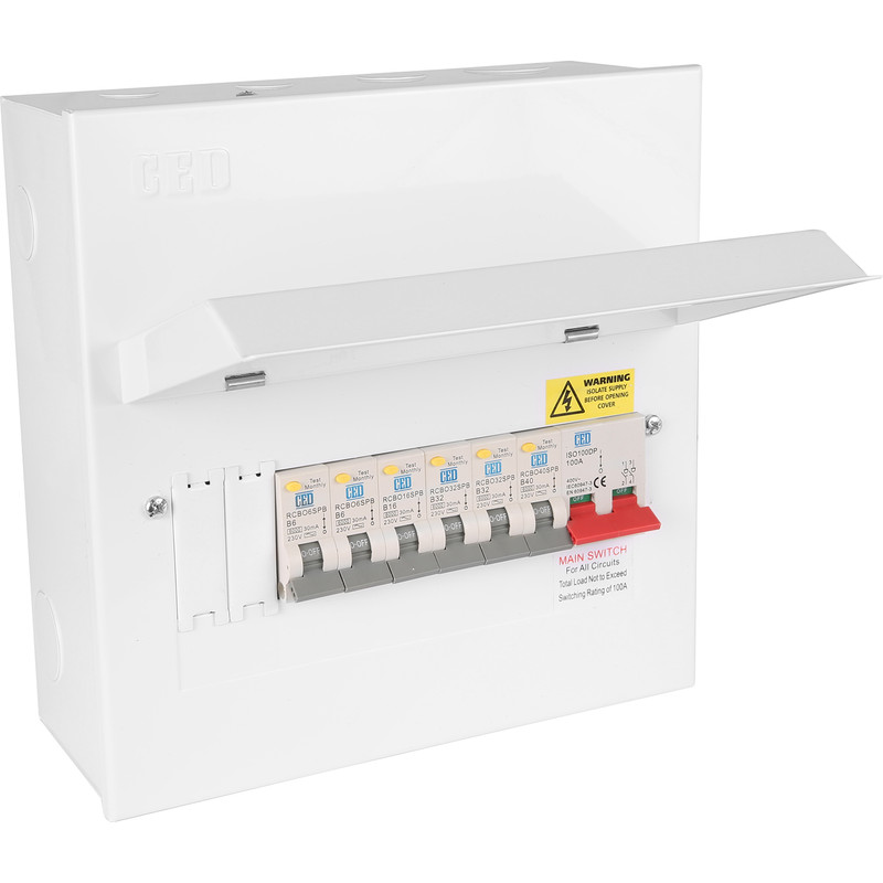 Metal 17th Edition Amendment 3 + 6 RCBOs Consumer Unit