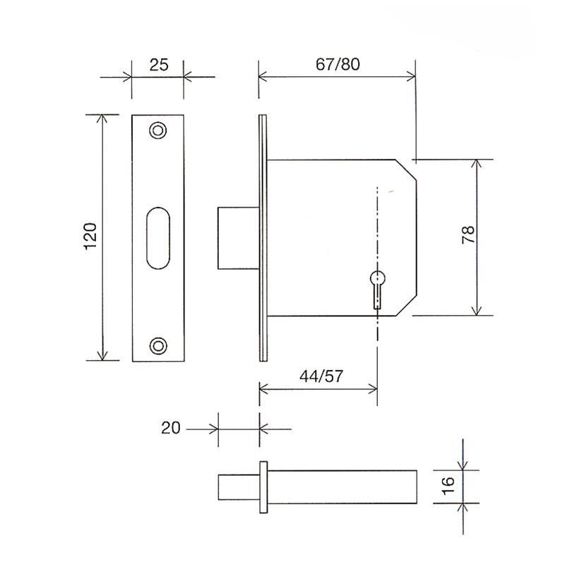 Securefast BS3621 5-Lever Deadlock