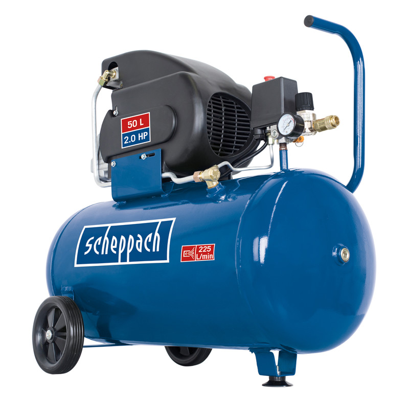 Scheppach HC60 2.0 HP 50L Semi-Pro Air Compressor - 10 bar