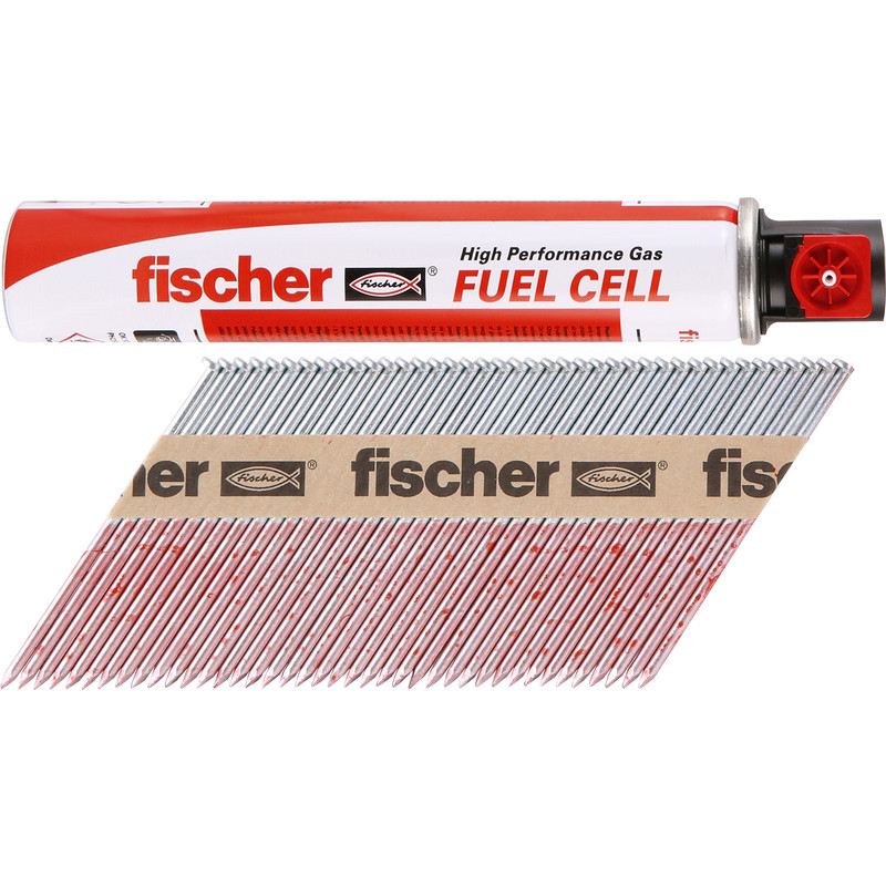 Fischer Galvanised Nail & Gas Fuel Pack