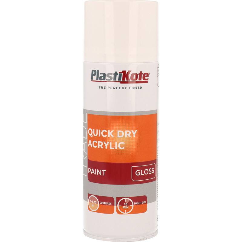 Plastikote Quick Dry Acrylic Spray Paint 400ml