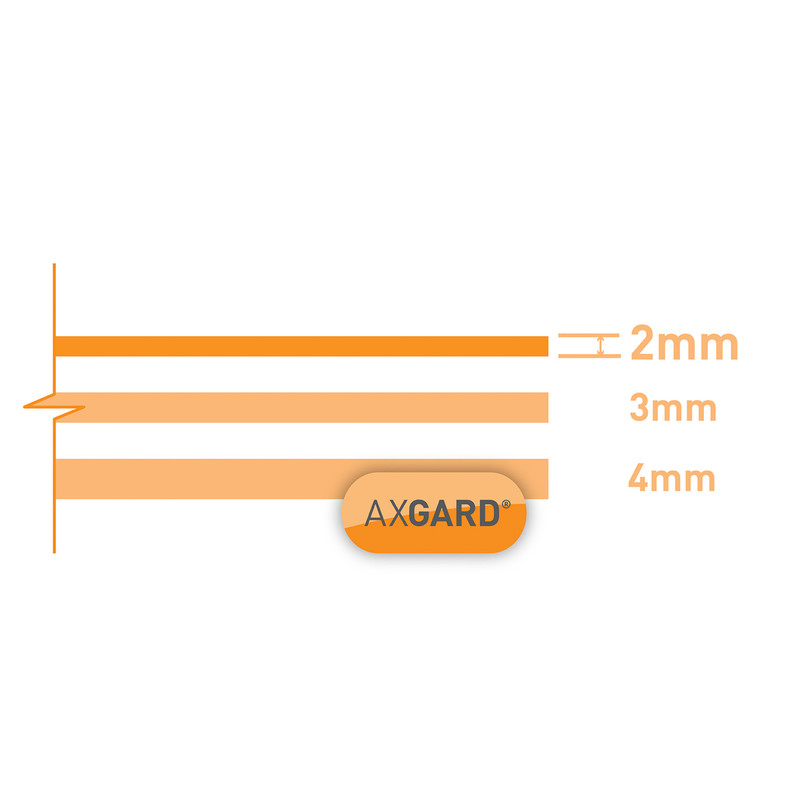 Axgard 2mm Polycarbonate Clear Impact Resisting Glazing Sheet
