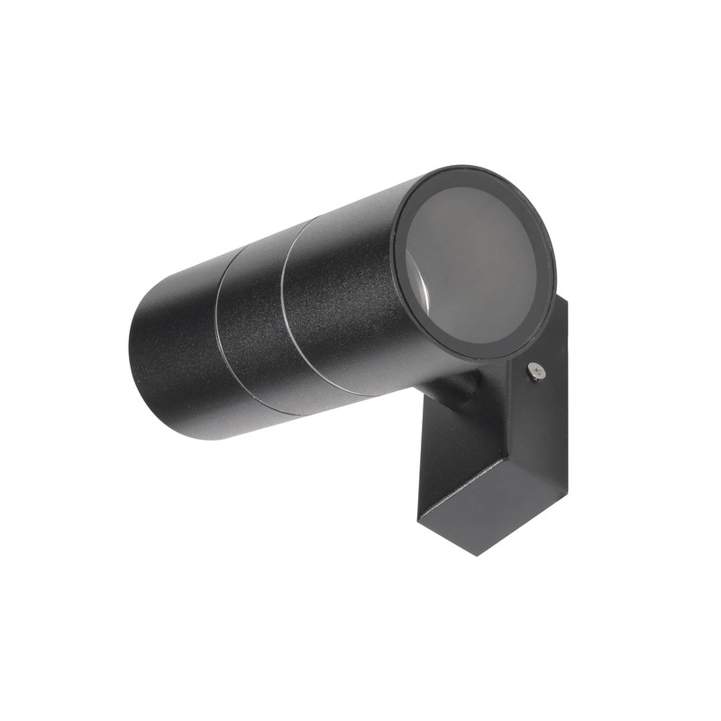 IP44 Up & Down Black Wall Light