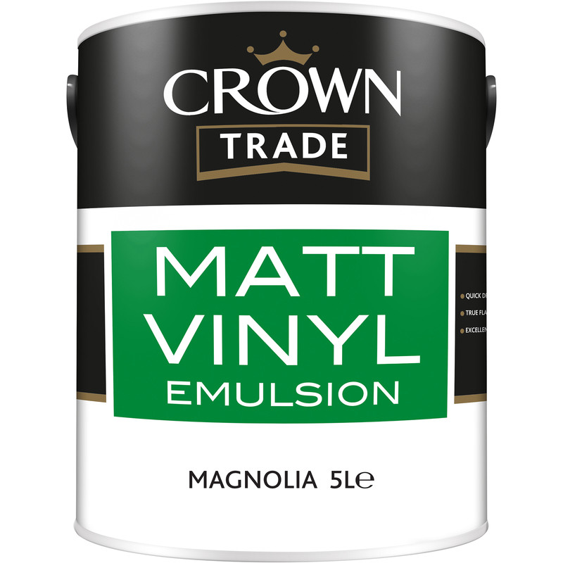 Crown Trade Vinyl Matt Emulsion Paint 5L