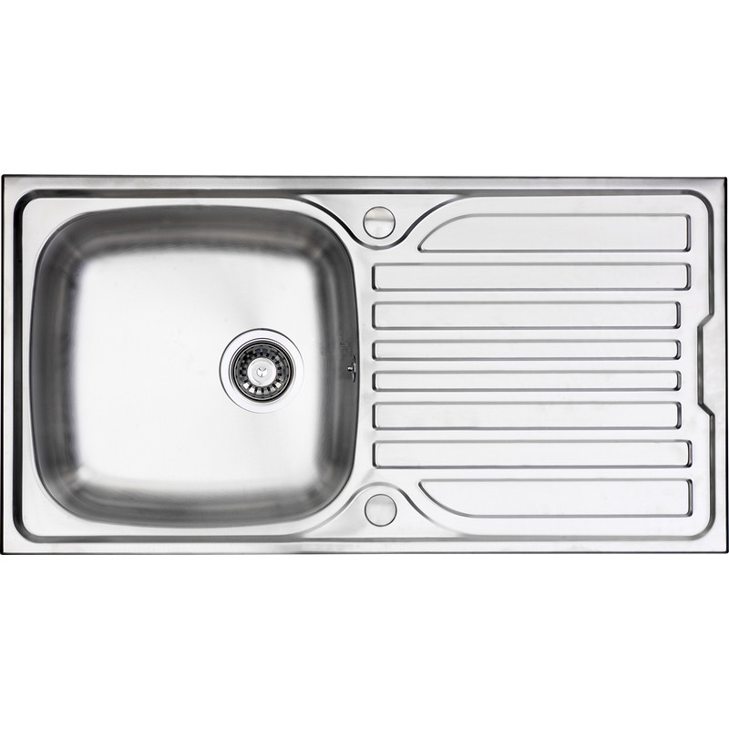 stainless steel single bowl kitchen sink drainer 965 x 500 x rh toolstation com small 1 bowl kitchen sink franke 1 bowl kitchen sink