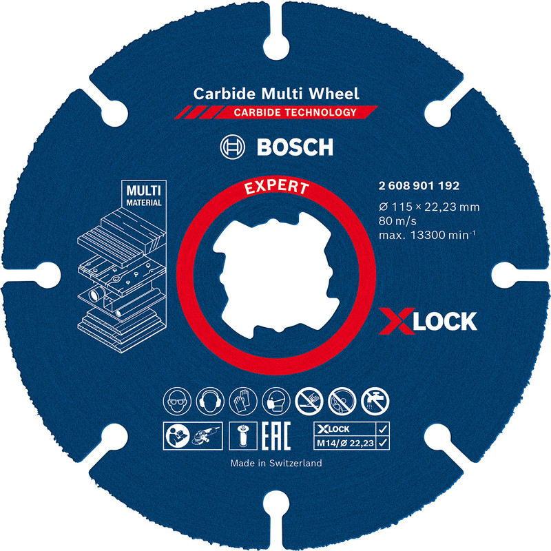 Bosch X-LOCK Carbide multi wheel