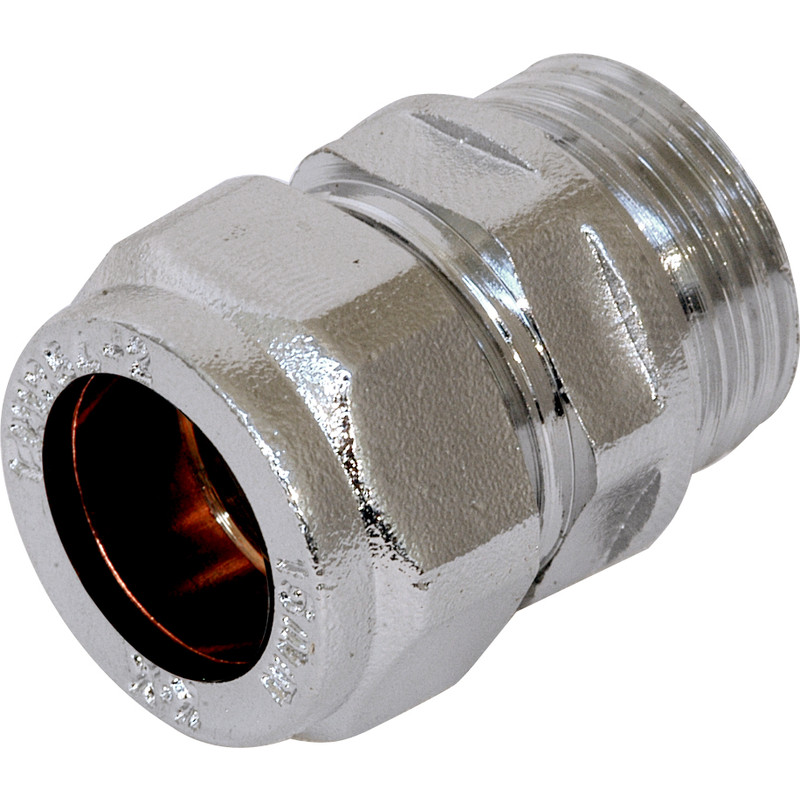 Compression Coupler Male Chrome Plated