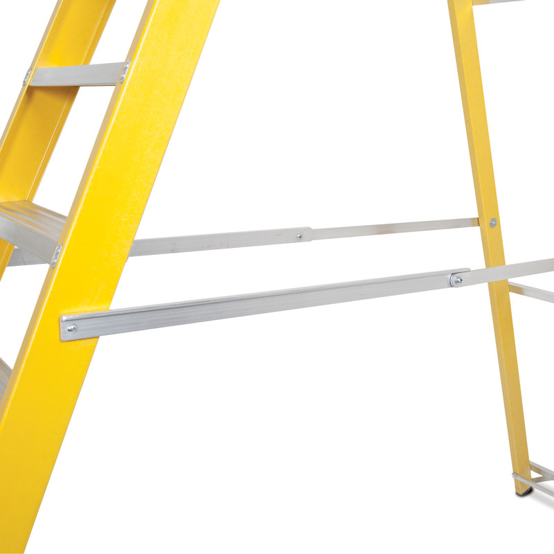 Lyte Heavy Duty Fibreglass Swingback Step Ladder
