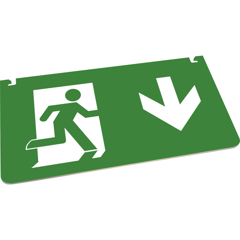 Integral LED Multi-Fit IP20 LED 26m Emergency Exit Sign