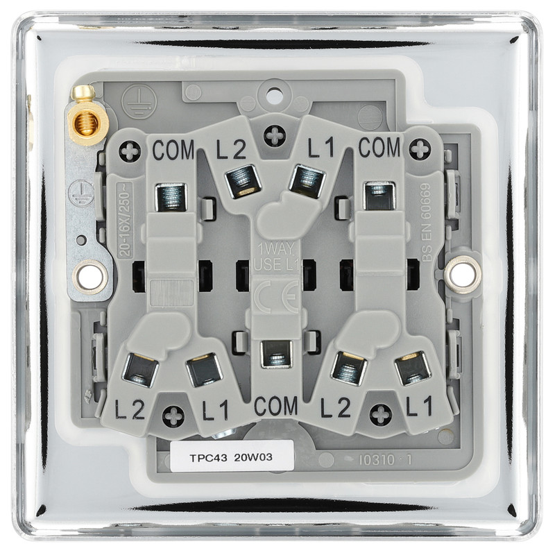 BG Polished Chrome 10A Switch