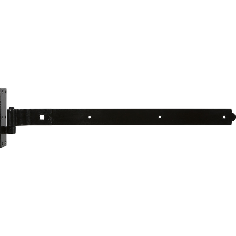 GATEMATE Premium Black Cranked Band & Hook on Plate Gate Hinge
