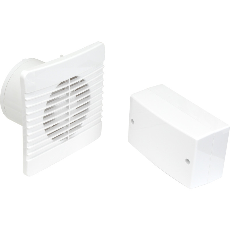 Airvent 100mm Selv 12v Low Profile Extractor Fan Timer