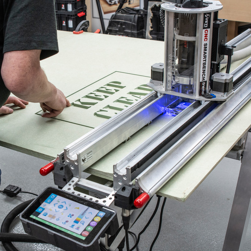 Trend Yeti CNC Precision Smartbench with V-Carve Software & Vac