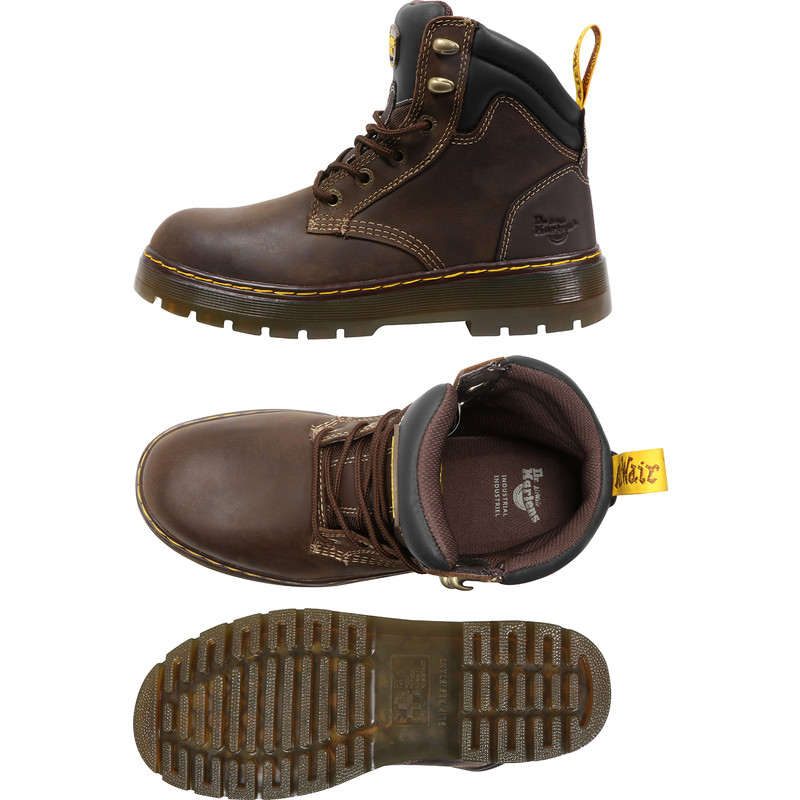 dr martens steel toe safety boots