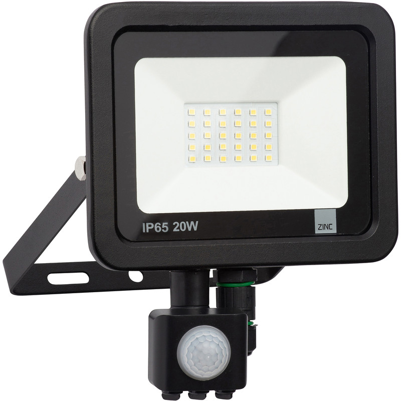 Zinc Slimline LED PIR Floodlight IP65
