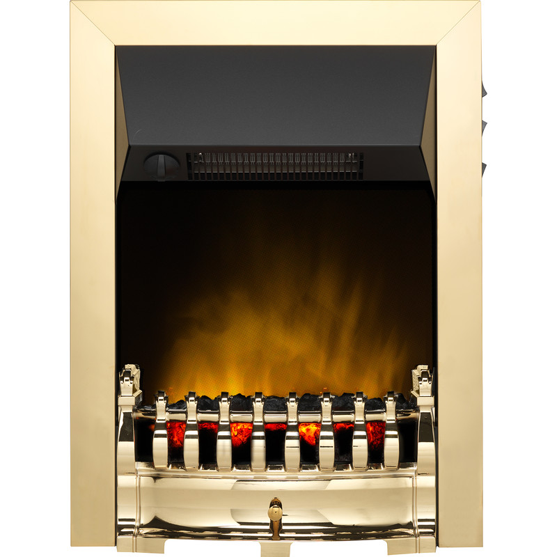 Dimplex Balmoral Ecolite Brass Inset Electric Fire