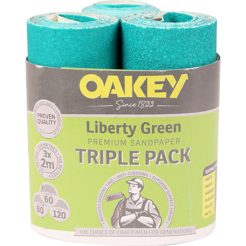 Oakey Sanding Rolls Triple Pack