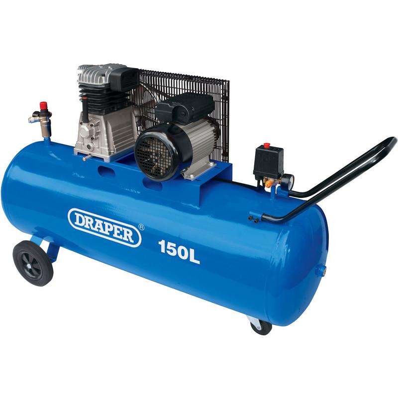 Draper 150L 2200W Belt-Driven Air Compressor