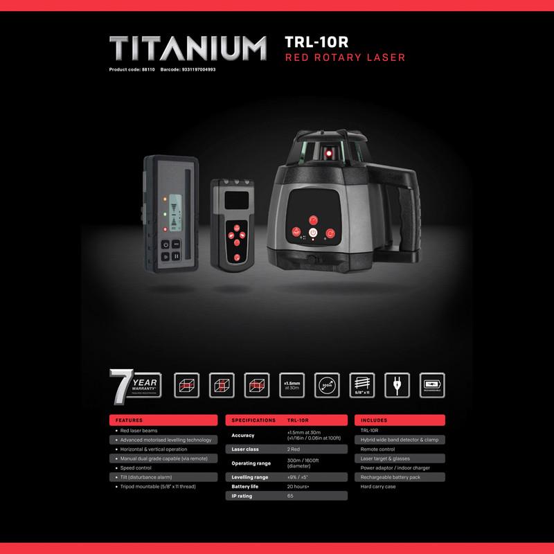 General Titanium Rotary Laser Kit