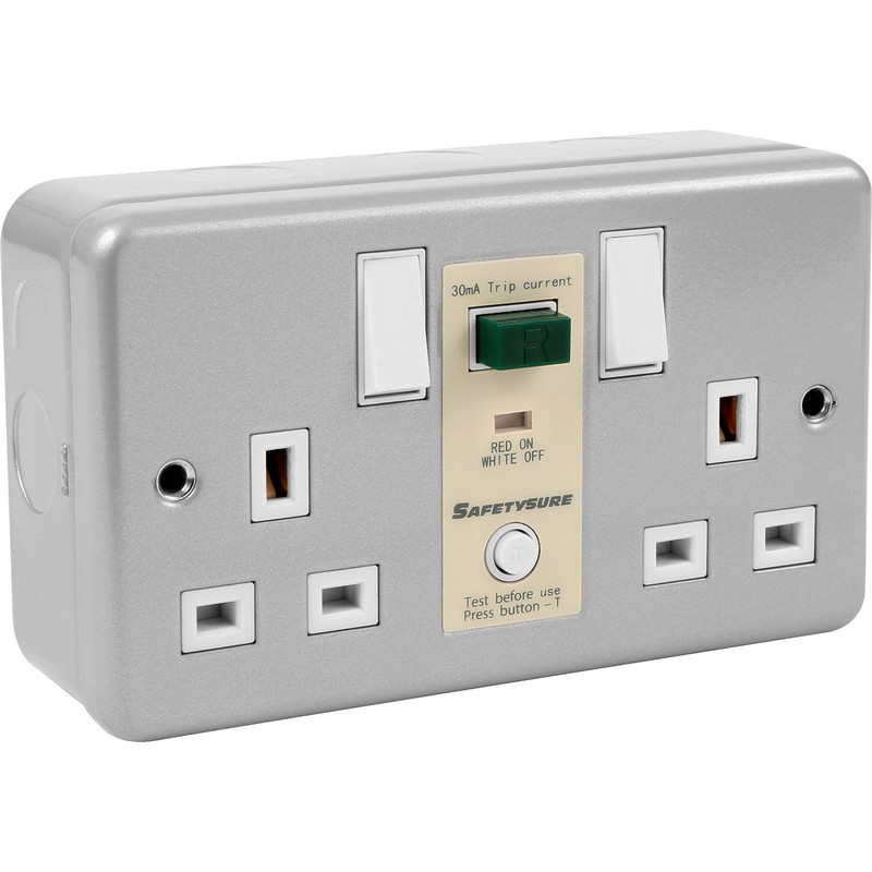 SafetySure RCD Socket Metalclad