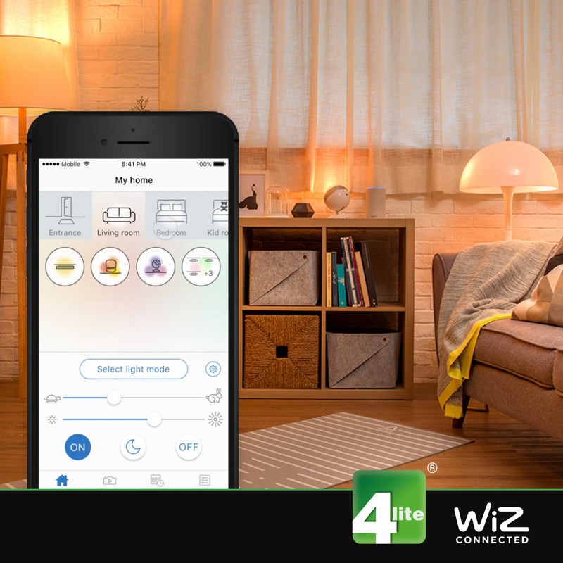 4lite WiZ LED A60 Smart Filament Wi-Fi Bulb