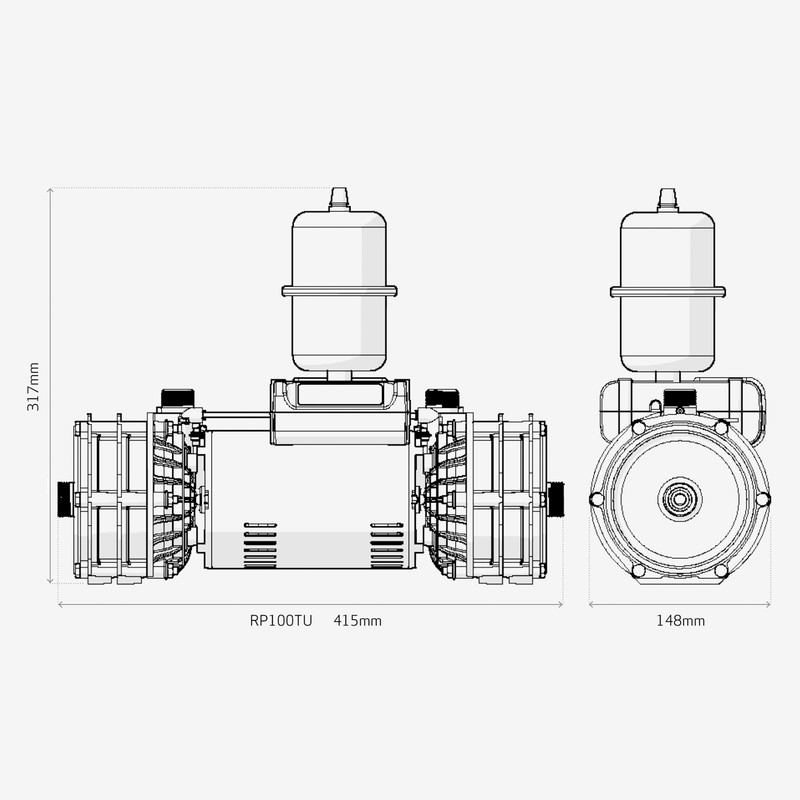 Salamander RP100TU Centrifugal Twin Shower Pump