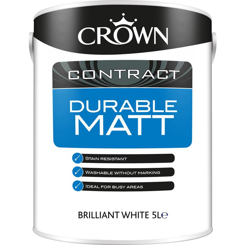 Crown Contract Durable Matt Emulsion 5L
