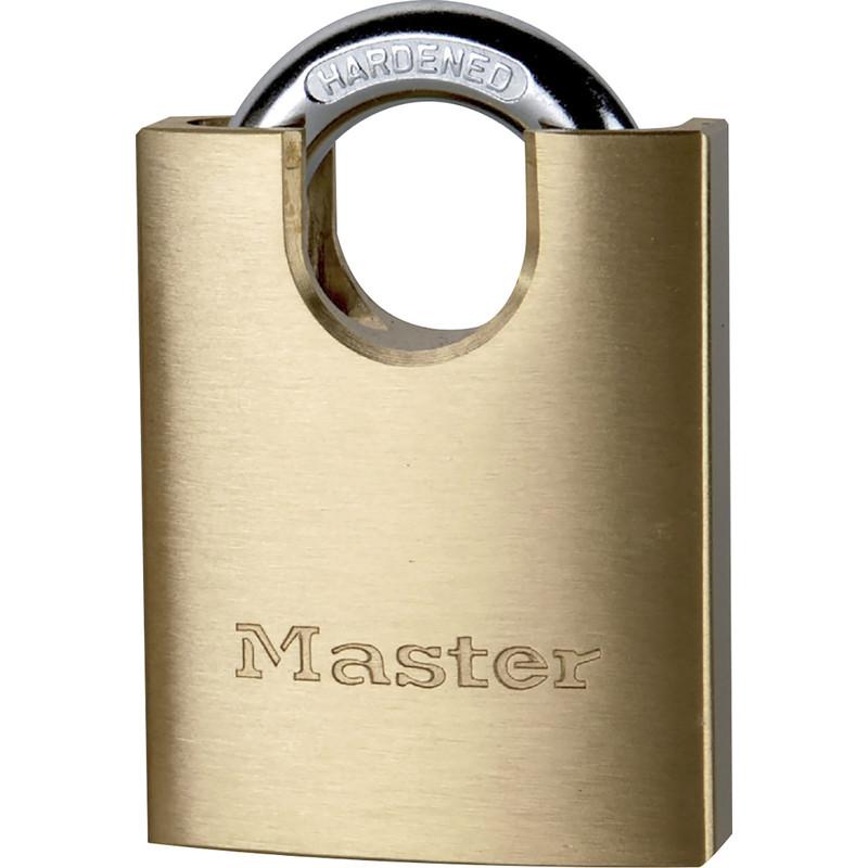 Master Lock Solid Brass Shrouded Shackle Padlock