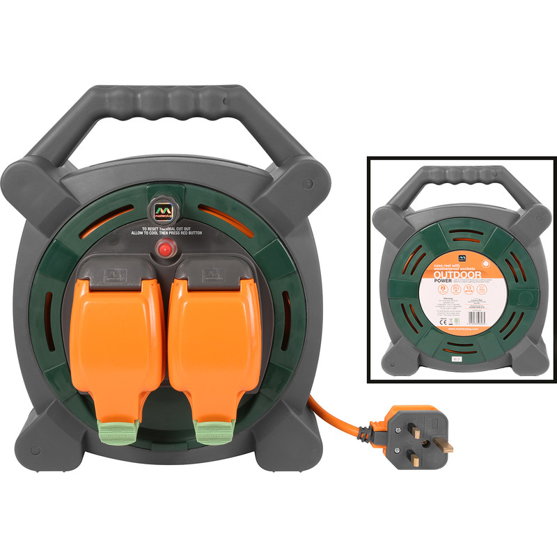 Masterplug 2 Socket 13A IP54 Rated Cable Reel