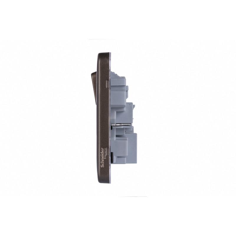 Schneider Electric Lisse Mocha Bronze Screwless 13A USB Switched Socket