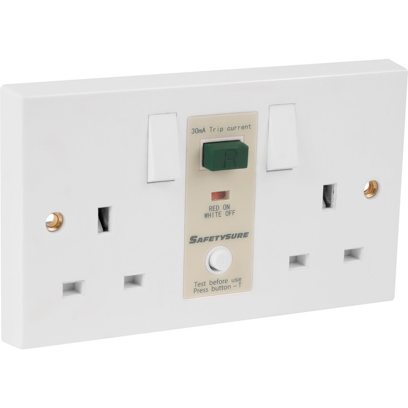 SafetySure RCD Socket White