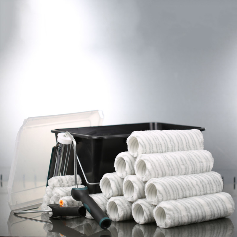 Rota Professional 23 Piece Silver Stripe Trade Scuttle & Roller Set