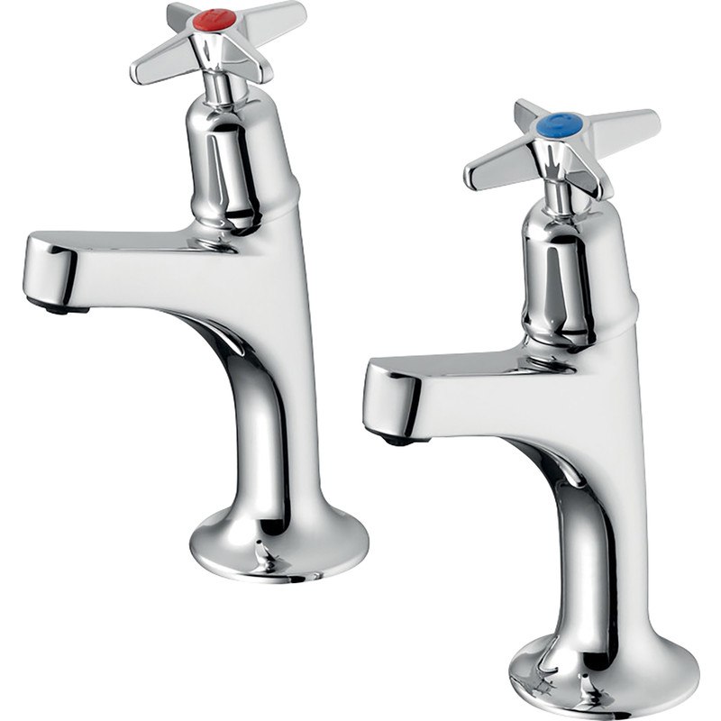 Armitage Shanks Sandringham 21 High Neck Sink Pillar Taps