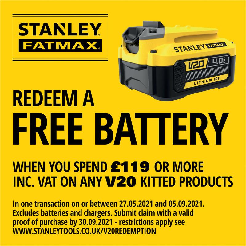 Stanley FatMax V20 36V (2x18V) 51cm Brushless Cordless Lawnmower
