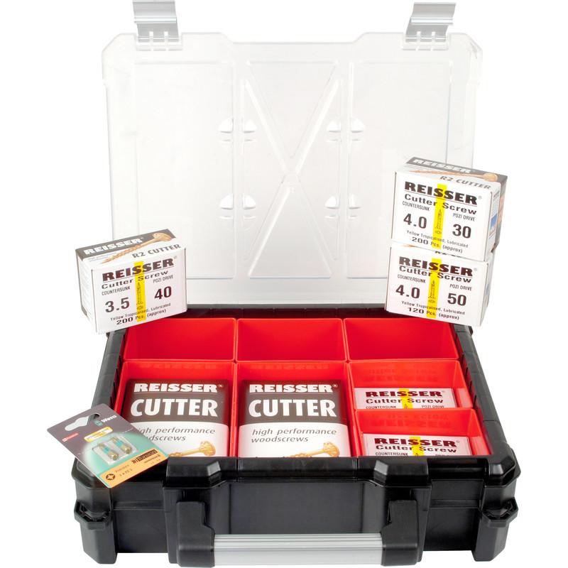 Reisser Cutter Pozi Screw 7 Compartment Chunky Case