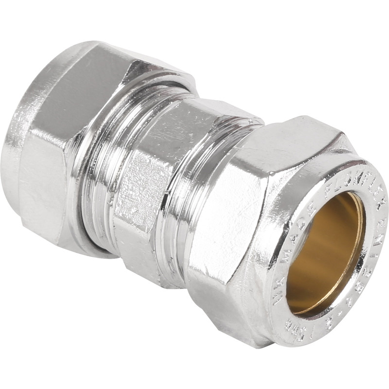 Made4Trade Compression Straight Coupler Chrome Plated