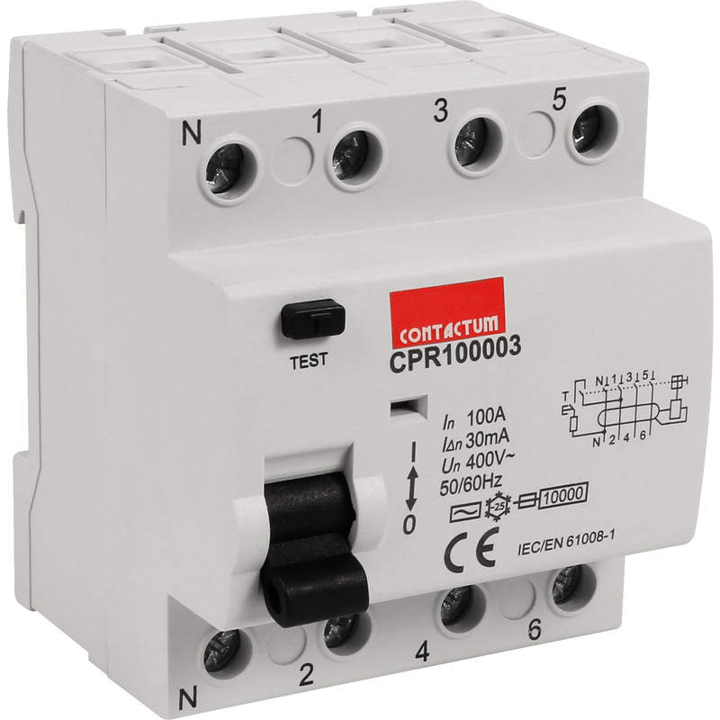 Contactum Incomer for B Type Distribution Boards