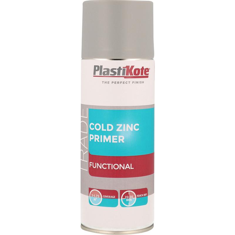 Plastikote Cold Zinc Primer Spray Paint 400ml