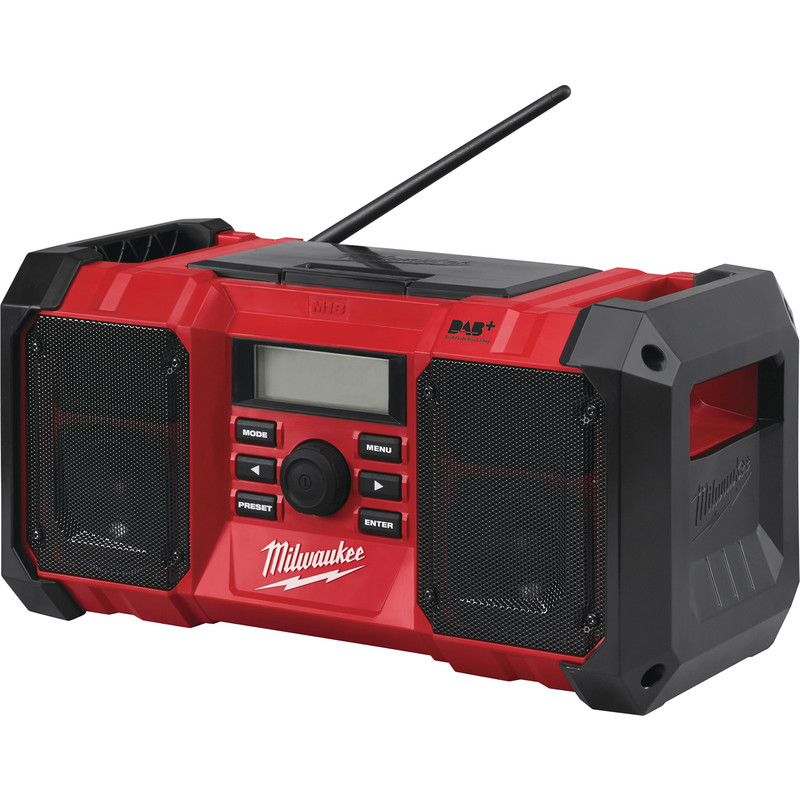 Milwaukee M18JSRDAB-0 18V Li-Ion DAB+ Jobsite Radio