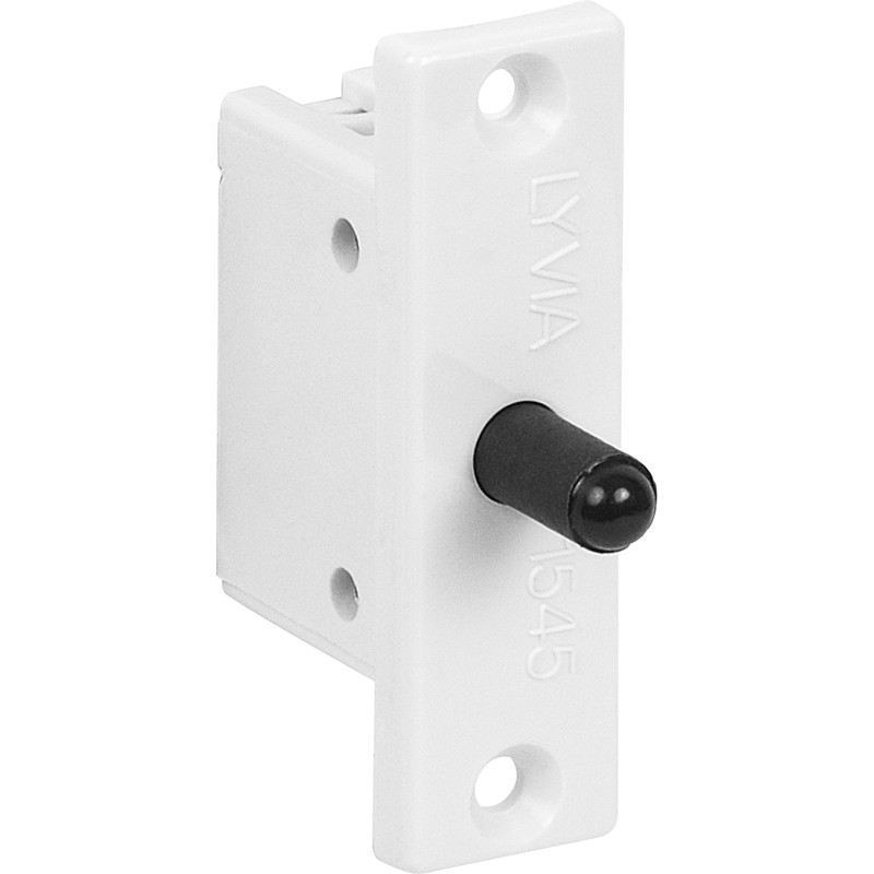 White Flat Plate Mortice Door Switch