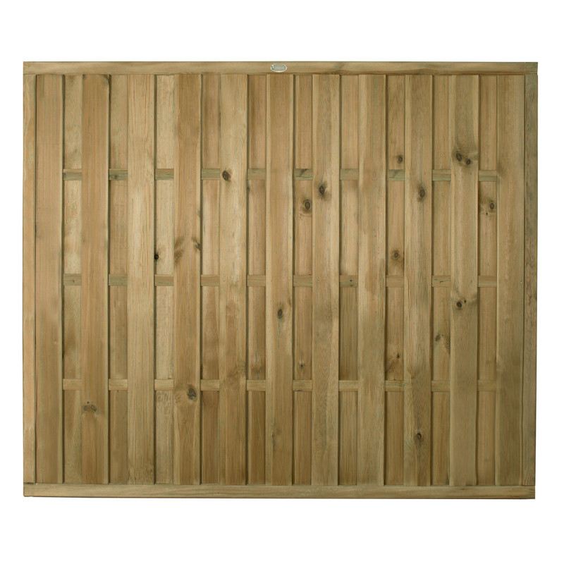 Forest Garden Pressure Treated Vertical Hit & Miss Fence Panel - 3 Pack