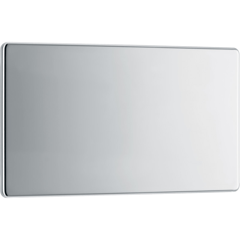 BG Screwless Flat Plate Polished Chrome Blank Plate