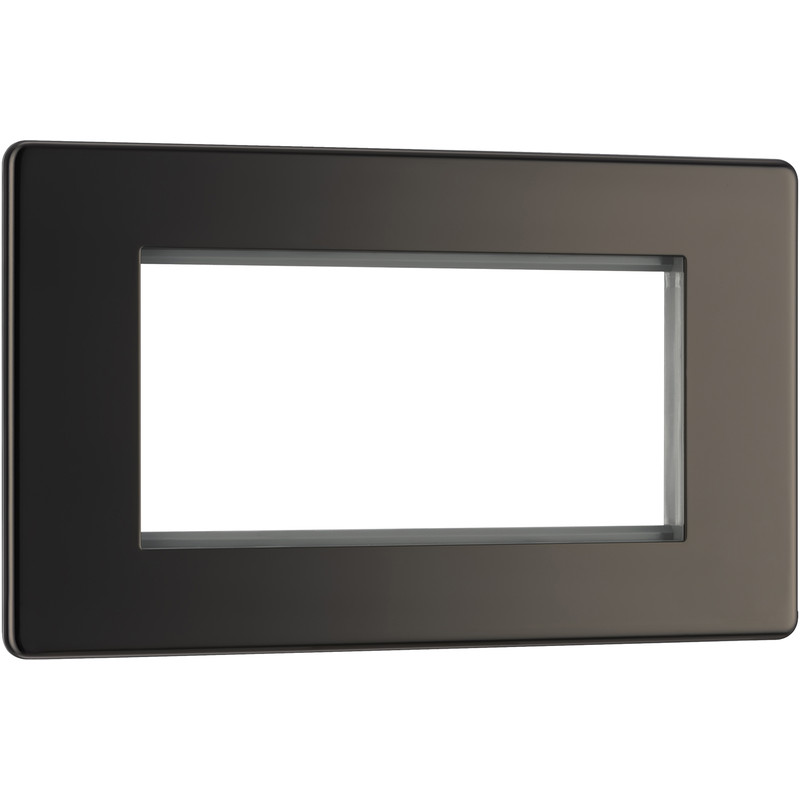 BG Screwless Flat Plate Black Nickel Data Plate